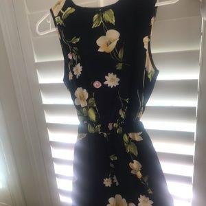 Beautiful Navy Floral Dress